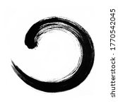 round ink stroke. shape  frame  ... | Shutterstock . vector #1770542045