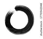 round ink stroke. shape  frame  ... | Shutterstock . vector #1770542048