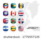 north america countries flags... | Shutterstock .eps vector #1770557135