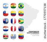 south america countries flags... | Shutterstock .eps vector #1770557138