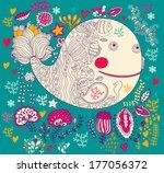 underwater. vector cartoon... | Shutterstock .eps vector #177056372
