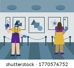 people visit the picture... | Shutterstock .eps vector #1770576752