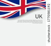 great britain flag on a white... | Shutterstock .eps vector #1770581192