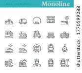 Rail Transport Icons   Monolin...