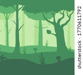 vector misty forest texture....   Shutterstock .eps vector #1770611792