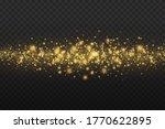 yellow dust. bokeh effect....   Shutterstock .eps vector #1770622895
