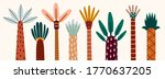 various abstract palms. short... | Shutterstock .eps vector #1770637205