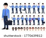 asian businessman cartoon... | Shutterstock .eps vector #1770639812