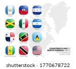 north america countries flags... | Shutterstock .eps vector #1770678722