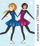 female figure skaters  blonde... | Shutterstock . vector #177068165