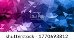 vibrant blue and pink low poly... | Shutterstock .eps vector #1770693812
