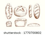 set of bakery products  variety ... | Shutterstock .eps vector #1770700802
