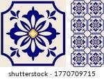 seamless azulejo tile.... | Shutterstock .eps vector #1770709715