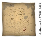 ancient pirate map for treasure ... | Shutterstock .eps vector #1770712475