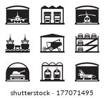 transportation garages and... | Shutterstock .eps vector #177071495