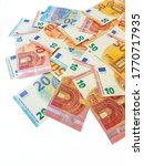Paper Money Of The Euro On A...