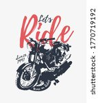 let's ride slogan with b w...   Shutterstock .eps vector #1770719192