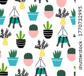 Potted Home Plants Seamless...