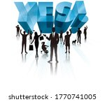 group of people to agree   Shutterstock . vector #1770741005
