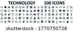 set of 100 technology icons.... | Shutterstock .eps vector #1770750728