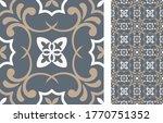 seamless azulejo tile.... | Shutterstock .eps vector #1770751352