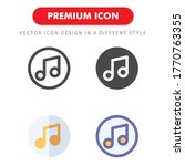 music icon pack isolated on...