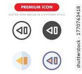 previous icon pack isolated on...