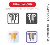 headphone icon pack isolated on ...