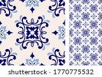 seamless azulejo tile.... | Shutterstock .eps vector #1770775532