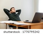 relaxed corporate man sitting...   Shutterstock . vector #1770795242