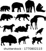silhouette elephant tiger bear... | Shutterstock .eps vector #1770802115