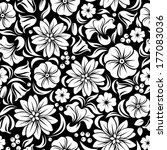 white seamless floral pattern... | Shutterstock .eps vector #177083036