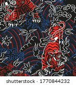 angry tiger doodle contrast... | Shutterstock .eps vector #1770844232