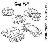 hand drawn swiss roll sketch...   Shutterstock .eps vector #1770847148