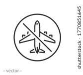 no flight icon  no fly zone ...   Shutterstock .eps vector #1770851645
