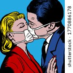Kissing Couple With Antiviral...