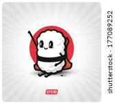 cute sushi character | Shutterstock .eps vector #177089252