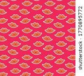 lip pattern template vector... | Shutterstock .eps vector #1770895772