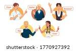multiethnic european young men  ... | Shutterstock .eps vector #1770927392