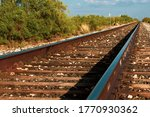Railroad Tracks To Marfa Texas