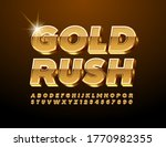 vector chic sign gold rush. 3d... | Shutterstock .eps vector #1770982355