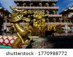 Chinese Incense Burner  Golden...