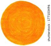 orange blank watercolor round... | Shutterstock . vector #177103496