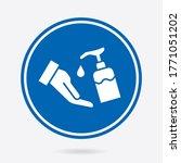 hand hygiene icon. vector... | Shutterstock .eps vector #1771051202