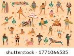 beach people. summertime sand... | Shutterstock . vector #1771066535
