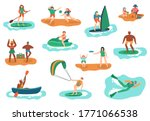 sea outdoor activities. water... | Shutterstock . vector #1771066538