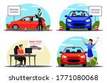 education process  examination... | Shutterstock .eps vector #1771080068