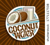vector logo for coconut water ... | Shutterstock .eps vector #1771117538