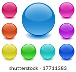 spheres of ground glass on... | Shutterstock .eps vector #17711383