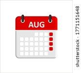 august calendar icon. calendar...